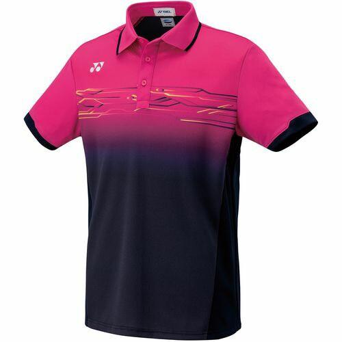 YONEX ヨネックス メンズ バドミントン ゲームシャツ ポロシャツ フィットスタル 10257675 ネイビー/ピンク