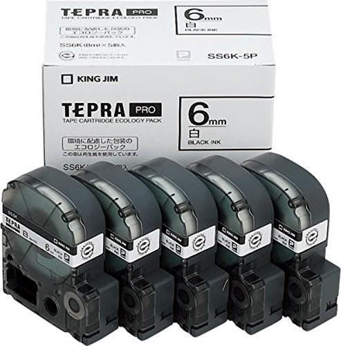 キングジム テプラテープ 【5個入】 SS6K-5P 00060236 【まとめ買い3セット】