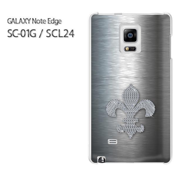ゆうパケ【docomo/au GALAXY Note Edge SC-01G/SCL24ケース】[アクセサリー/スマホケース/スマートフォン用カバー] [ユリの紋章