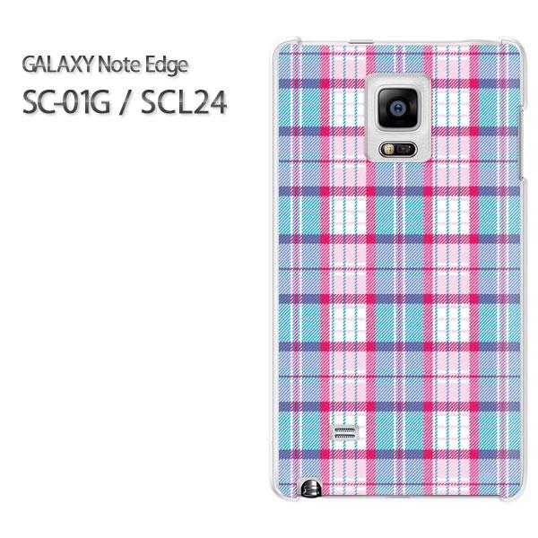 ゆうパケ【docomo/au GALAXY Note Edge SC-01G/SCL24ケース】[アクセサリー/スマホケース/スマートフォン用カバー][チェック(ブ