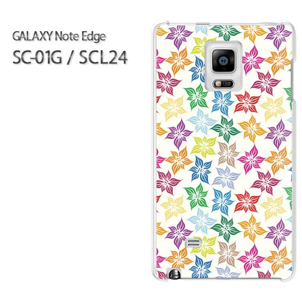 ゆうパケ【docomo/au GALAXY Note Edge SC-01G/SCL24ケース】[アクセサリー/スマホケース/スマートフォン用カバー]【フラワー102
