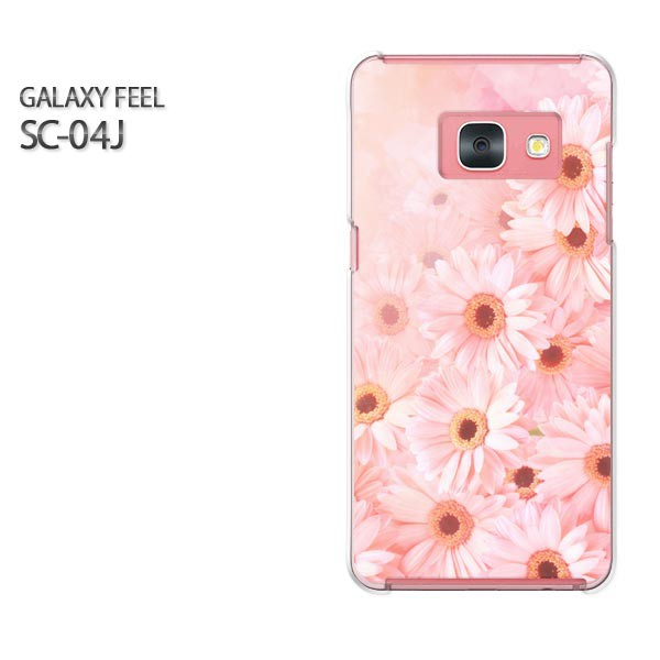 Galaxy Feel SC-04J ケース ハード スマホ ゆうパケ クリア  [花(ピンク)/sc04j-pc-ne059]