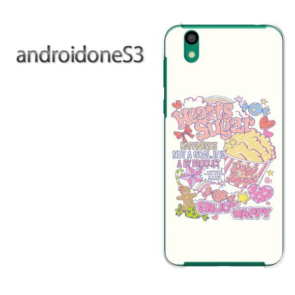 ゆうパケ送料無料スマホケース ハード android One S3 クリア 【スイーツ・ポップコーン/androidones3-M411】