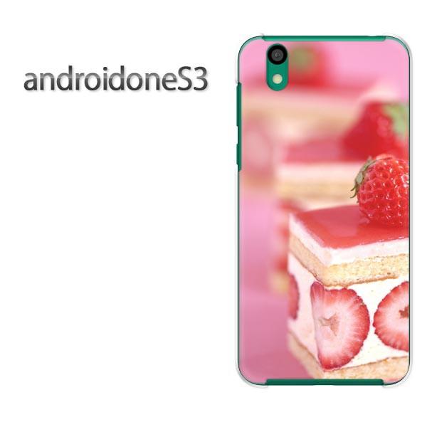 ゆうパケ送料無料スマホケース ハード android One S3 クリア 【イチゴケーキ/androidones3-M938】