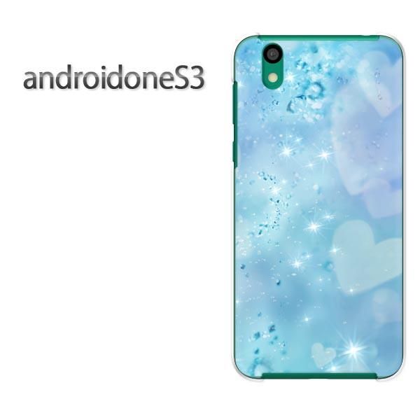 ゆうパケ送料無料スマホケース ハード android One S3 クリア 【ハートクリスタル(B)/androidones3-M955】