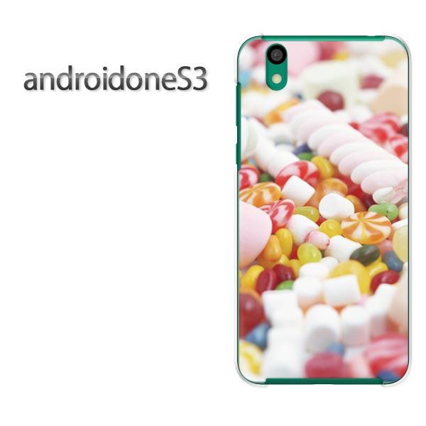 ゆうパケスマホケース ハード android One S3 クリア [スイーツ・マシュマロ(白)/androidones3-pc-new0398]