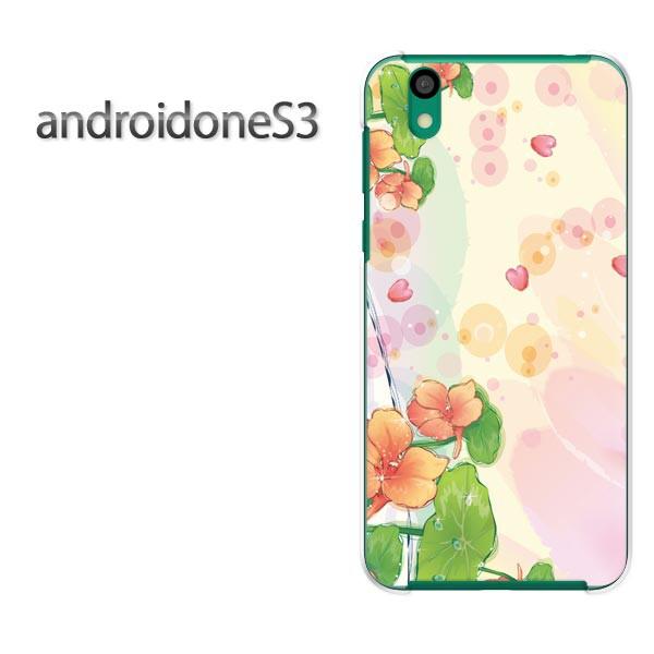 ゆうパケ送料無料スマホケース ハード android One S3 クリア 【フラワー293/androidones3-PM293】