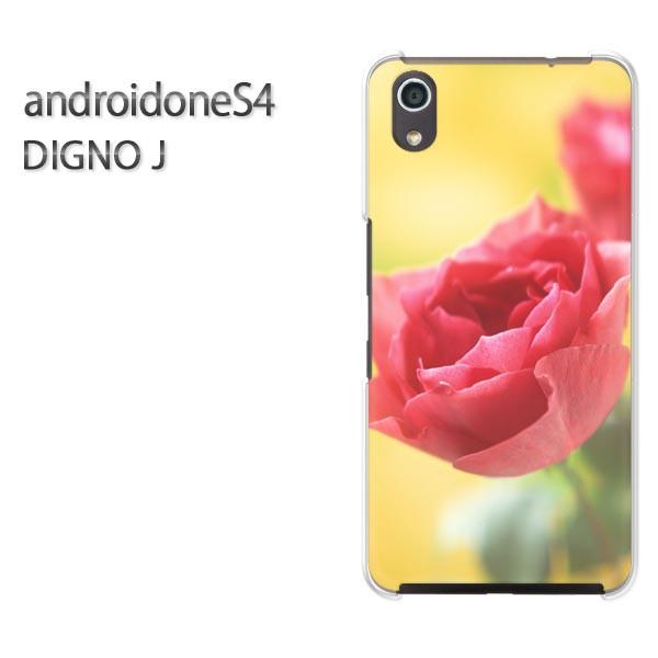 ゆうパケスマホケース ハード android One S4 クリア [花・バラ(赤・黄)/androidones4-pc-new0255]