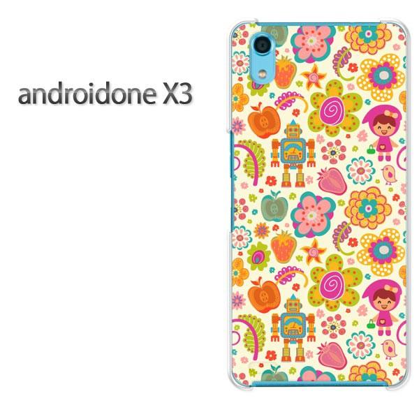 ゆうパケスマホケース ハード android One X3 クリア  [キャラ(黄)/androidonex3-pc-ne105]