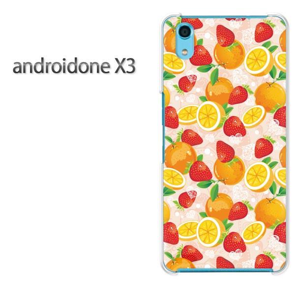 ゆうパケスマホケース ハード android One X3 クリア [スイーツ(ピンク)/androidonex3-pc-new1078]