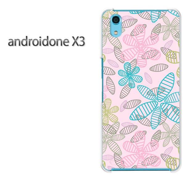 ゆうパケスマホケース ハード android One X3 クリア [花・シンプル(ピンク)/androidonex3-pc-new1676]