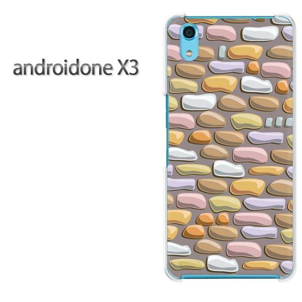 ゆうパケスマホケース ハード android One X3 クリア [シンプル・レンガ(グレー)/androidonex3-pc-new1827]