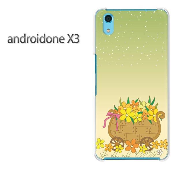 ゆうパケスマホケース ハード android One X3 クリア 【フラワー285/androidonex3-PM285】