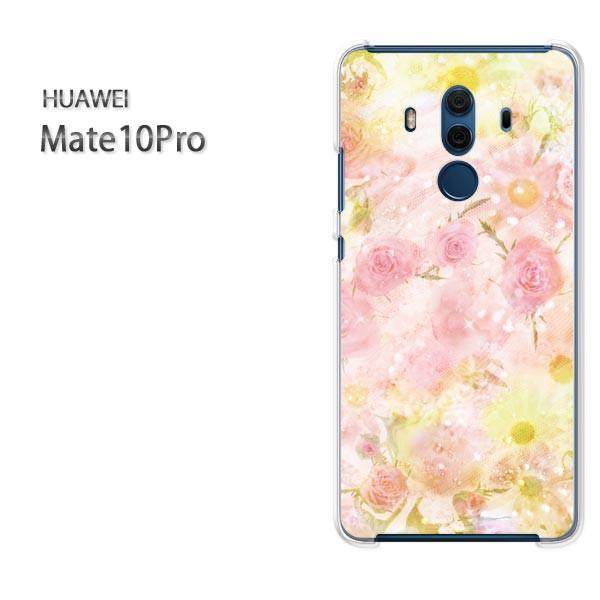 ゆうパケスマホケース ハード Mate10Pro クリア 【フラワー・レース/mate10pro-M979】