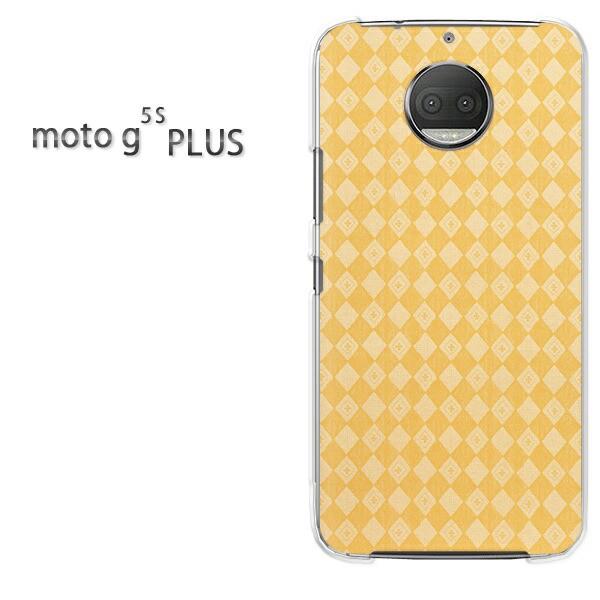 ゆうパケスマホケース ハード motog5sPLUS クリア シンプル(黄)/motog5splus-pc-new0279]