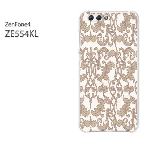 ゆうパケスマホケース ハード ZenFone4 ZE554KL クリア シンプル(ベージュ)/ze554kl-pc-new0097]