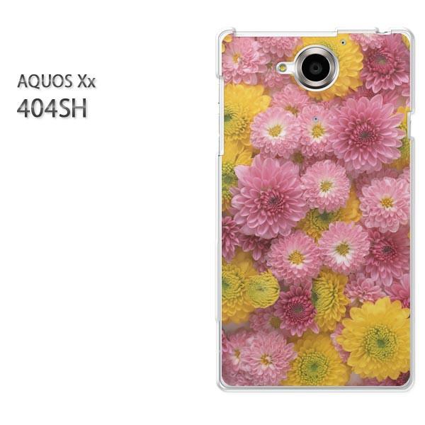 ゆうパケ【SoftBank AQUOS Xx 404SHケース】404sh ケース/404sh カバー]アクセサリー/スマホケース/スマートフォン用カバー]花(