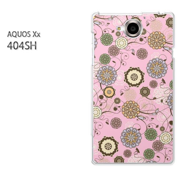 ゆうパケ【SoftBank AQUOS Xx 404SHケース】404sh ケース/404sh カバー]アクセサリー/スマホケース/スマートフォン用カバー]花・