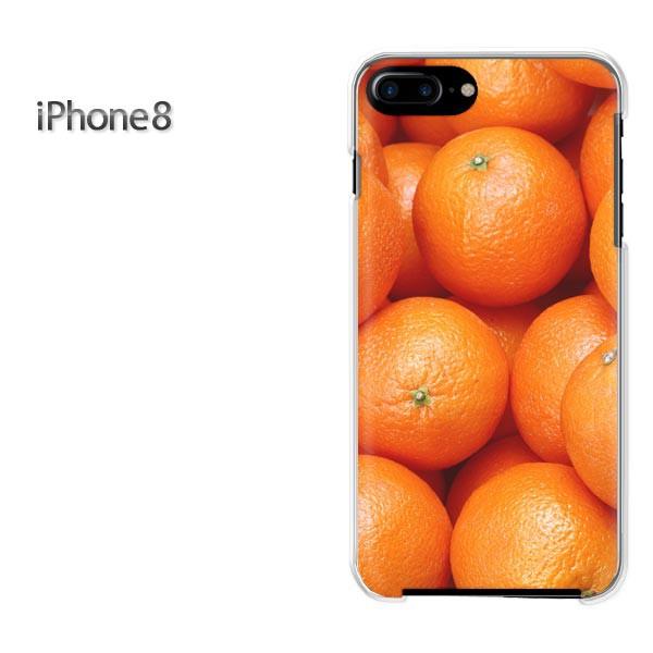 iPhone8 iphone8 ケース ハードカバー プリント ゆうパケ クリア スイーツ・オレンジ/i8-pc-new0799]