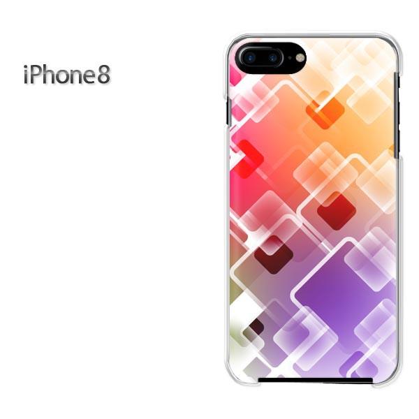 iPhone8 iphone8 ケース ハードカバー プリント ゆうパケ クリア シンプル(オレンジ)/i8-pc-new1449]
