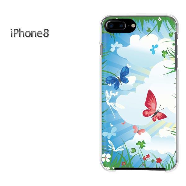 iPhone8 iphone8 ケース ハードカバー プリント ゆうパケ クリア 【フラワー208/i8-PM208】