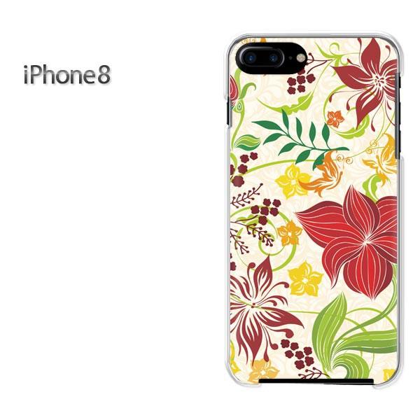iPhone8 iphone8 ケース ハードカバー プリント ゆうパケ クリア 【フラワー264/i8-PM264】