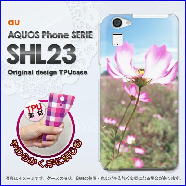 ゆうパケ★TPUソフトケース★au AQUOS Phone SERIE SHL23(アクオス)用ケースshl23 ケース]ケース/カバー]花(ピンク)/shl23-new15