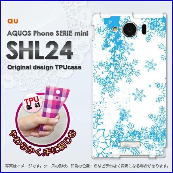 ゆうパケ★TPUソフトケース★au AQUOS Phone SERIE mini SHL24 (アクオス)用ケースshl24 ケース]ケース/カバー]冬・シンプル・雪