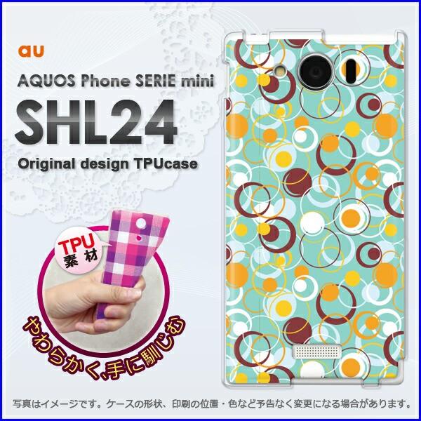 ゆうパケ★TPUソフトケース★au AQUOS Phone SERIE mini SHL24 (アクオス)用ケースshl24 ケース]ケース/カバー]シンプル・ドット