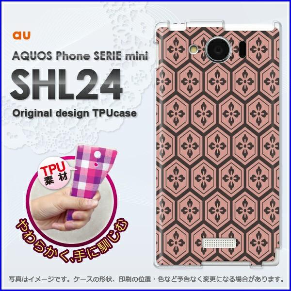 ゆうパケ★TPUソフトケース★au AQUOS Phone SERIE mini SHL24 (アクオス)用ケースshl24 ケース]ケース/カバー]和柄(赤)/shl24-n