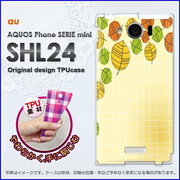 ゆうパケ★TPUソフトケース★au AQUOS Phone SERIE mini SHL24 (アクオス)用ケースshl24 ケース]ケース/カバー]花・秋・落ち葉(