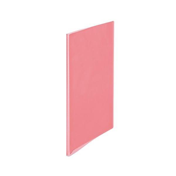 PLUSシンプルクリアファイル10ポケット ピンク98154 【10個セット】 32-822