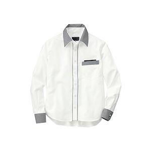 (まとめ) セロリー 長袖シャツ(ユニセックス) 3Lサイズ ホワイト S-63418-3L 1枚 【×2セット】 送料無料!