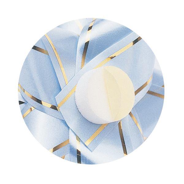 (まとめ) タカ印 シール付リボン マイフラワー 小 直径50mm 5色アソート 38-500 1パック(100個:各色20個)