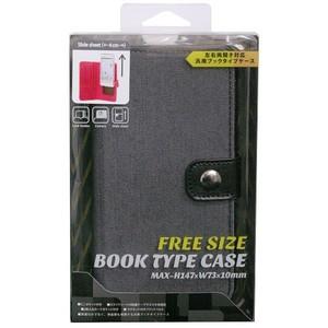 スマートフォン 汎用ブックタイプデニムケースブラックM-09BK お取り寄せ商品 4516023765001