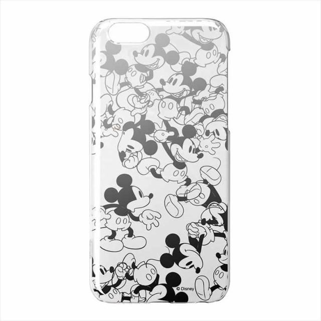 iPhone6S/6用銀箔押しクリアハードケース ユニスタイル ミッキーマウスPG-DCS055MKY 取り寄せ商