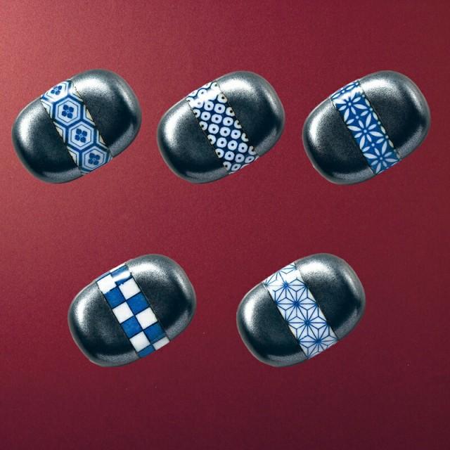 箸置 豆型 市松/いちまつ(39060-市松)箸・箸置・美濃焼・プレゼント・贈り物・ギフト・引出物・ブライダルギフト・メール便可