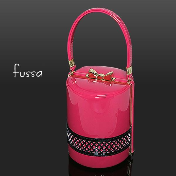 100%安い fussa和装バッグ「ピンク×黒色」フッサ エタニティパンチングバッグ 振袖バッグ 振り袖 [送料無料], 大曲市 776abf7f