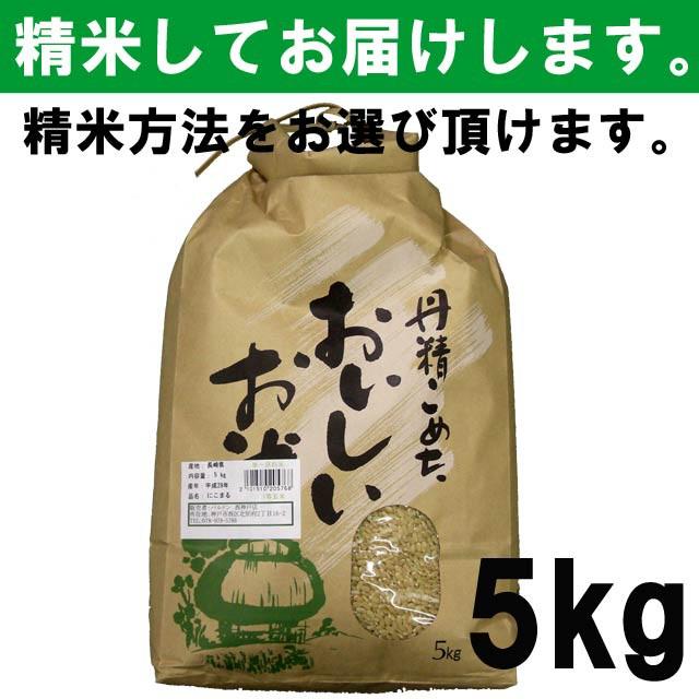 【平成29年度産】 長崎県産 にこまる 一等玄米100% 5キロ