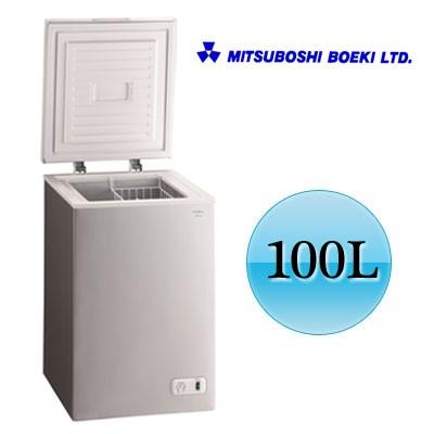 欲しいの 【送料無料】冷凍庫 100L Excellence チェスト型 ノンフロン冷凍庫 三ツ星貿易 KM-100 シルバー, 須恵町 de680b1a
