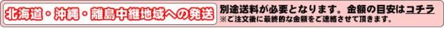北海道・沖縄・離島中継地域への発送