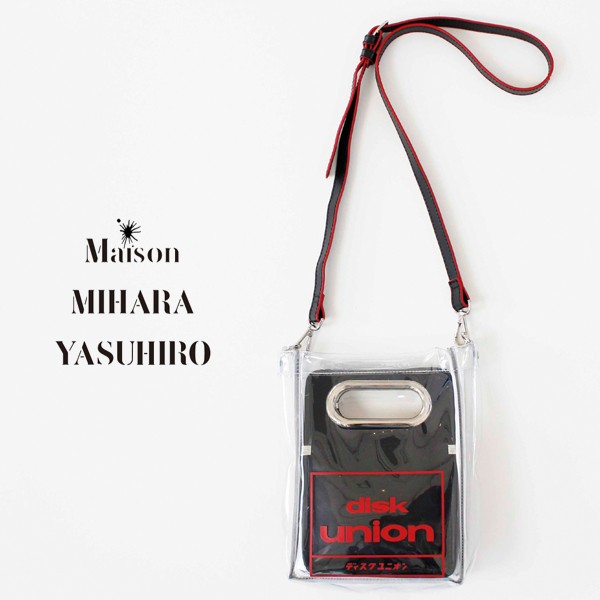 【在庫有】 ミハラヤスヒロ ディスクユニオン MAISON MIHARA YASUHIRO diskunion ショルダーバッグ メンズ レディース ブランド コラボレーション コ, 【まとめ買い】 e6fd89e5