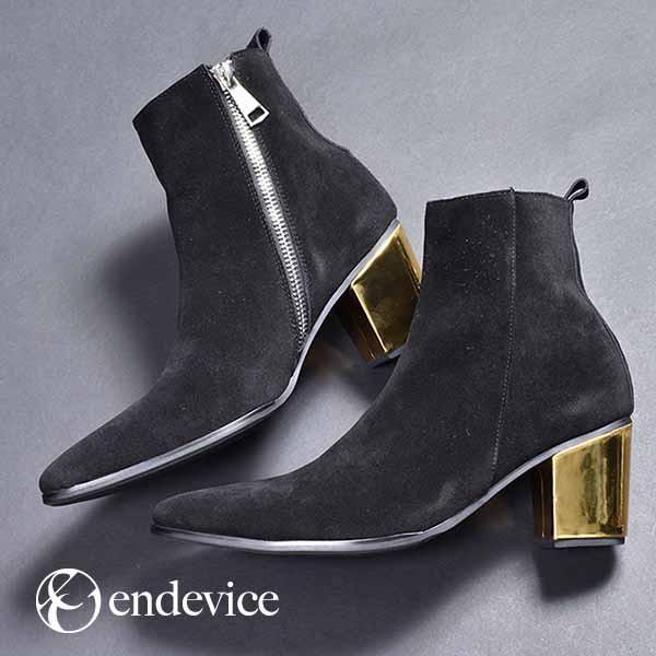 【SALE/セール】ブーツ メンズ ショートブーツ サイドジップブーツ ヒールブーツ 本革 レザー 革靴 ゴールド グリッター シルバー ブラッ|au  Wowma!(ワウマ)