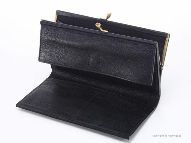 イルビゾンテ 財布 C0911 P 135 ブラック IL BISONTE がま口小銭入れ付き長財布