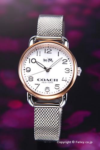 大人気新作 コーチ 時計 レディース COACH 腕時計 14502246 デランシー シルバー(ローズゴルドコンビ), バッテリーショップ FULL CHARGE 63f9c847