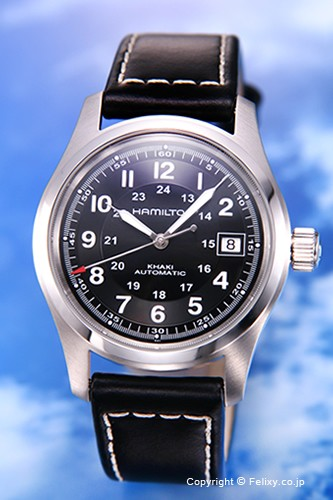 大人気新作 ハミルトン 腕時計 (カーキ Khaki Field Auto (カーキ Auto フィールドオート) ハミルトン ブラック/ブラックレザー H70455733, ヤベマチ:14ae0d50 --- 1gc.de