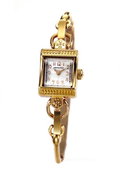 purchase cheap 49917 6b164 ハミルトン 腕時計 レディ ハミルトン ヴィンテージ GP/ホワイトシェル H31231113