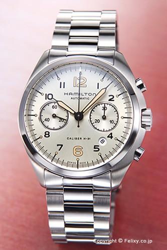 史上最も激安 クロノ アイボリー H76416155 カーキ パイオニア パイロット ハミルトン メンズ オート 腕時計-腕時計メンズ