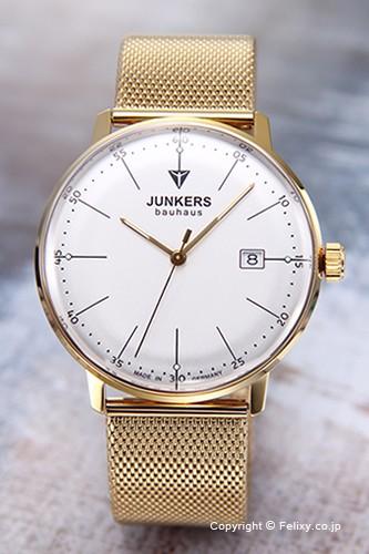 【信頼】 ユンカース メンズ腕時計 バウハウス デイト シルバー×ゴールド 6072M-5QZ, プラッツティーズ dabcf60e
