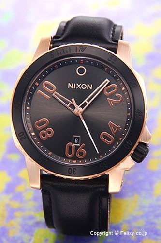 人気ブランドの ニクソン NIXON 腕時計 レンジャー NIXON レザー 腕時計 ローズゴールド/ガンメタルサンレイ レンジャー A5082308, 世羅町:7f0858f8 --- 1gc.de